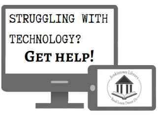 Technology help sessions at the Jenkintown Library
