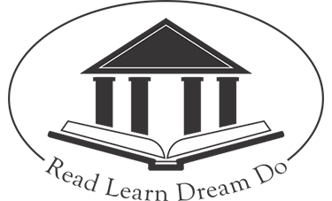 Jenkintown Library logo, a book with a building popping up and the words Read Learn Dream Do